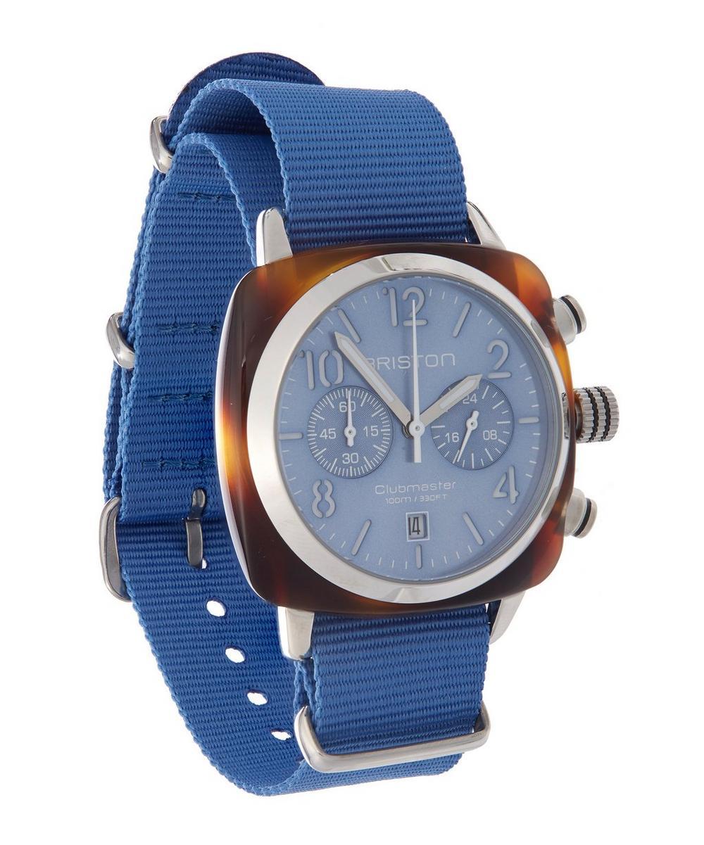 Clubmaster Chrono Tortoise Shell Nato Strap Watch