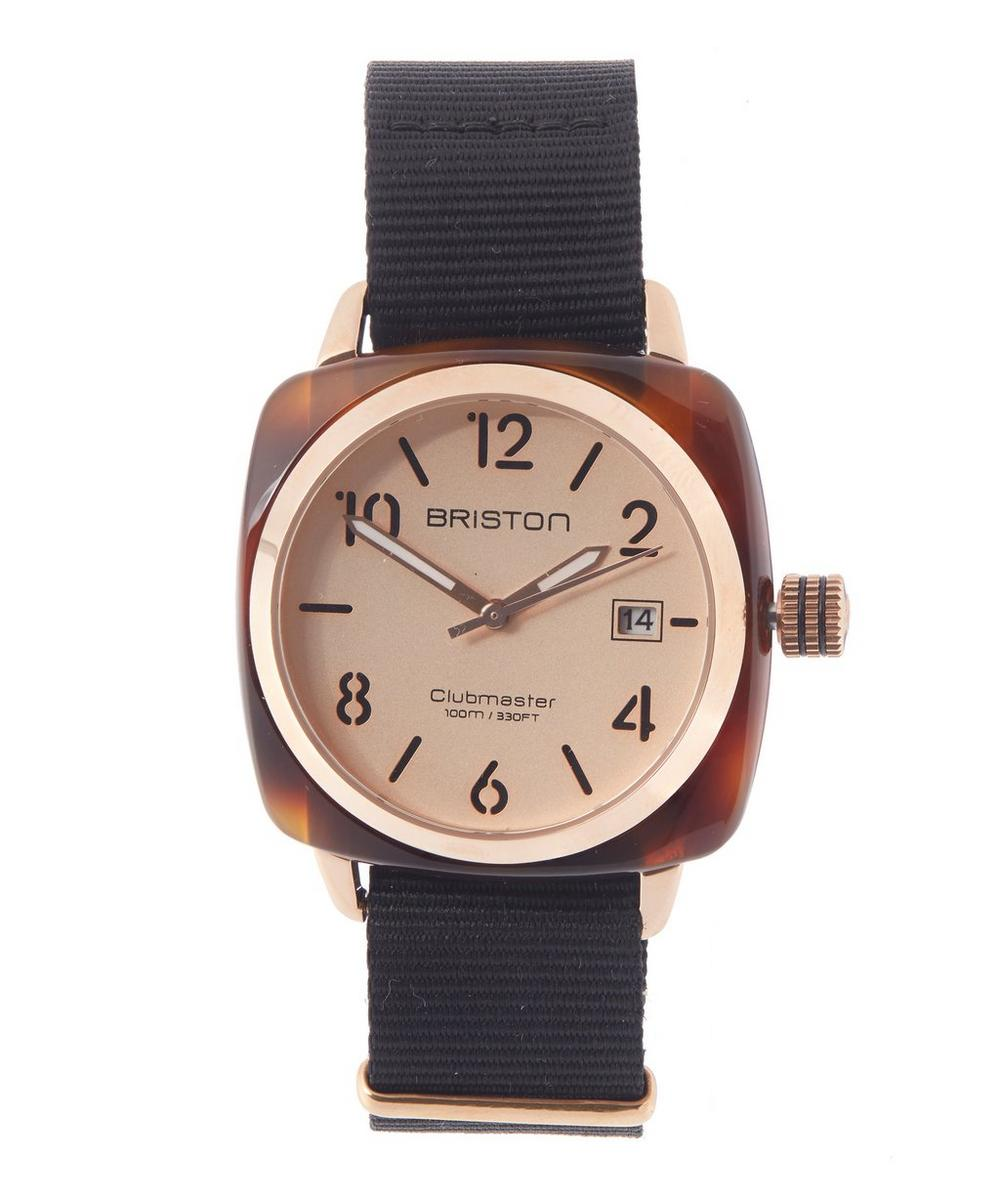 Tortoiseshell Rose Gold-Tone HMS Watch