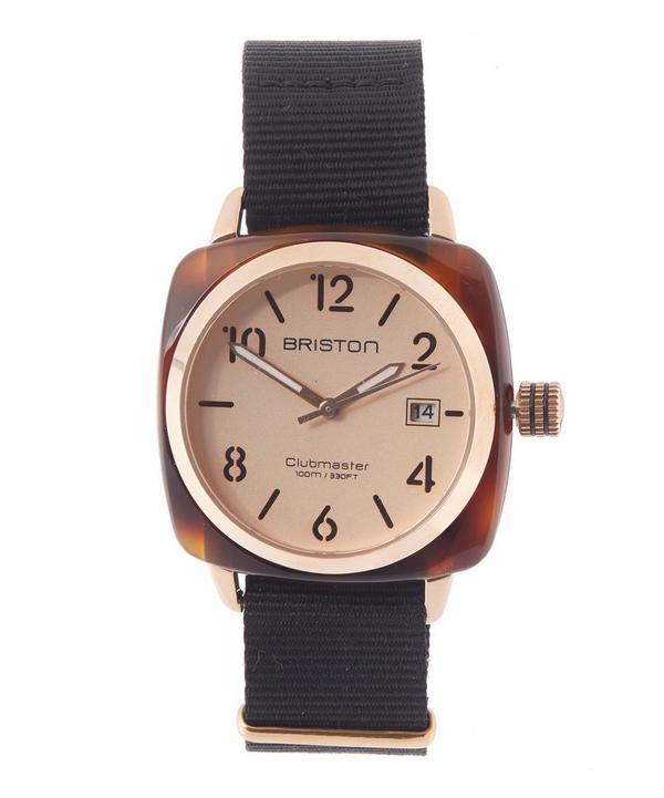 Tortoiseshell Rose Gold-Tone HMS Watch