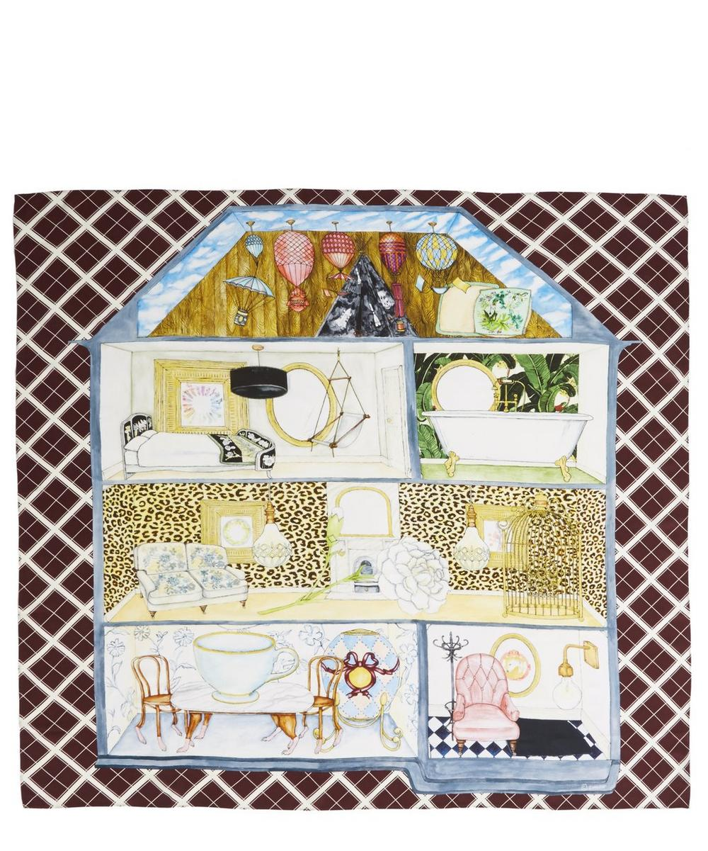 Dolls House Print Silk Scarf