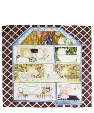 Dolls House Print Silk Scarf