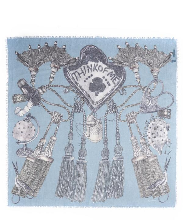 Think of Me Printed Cashmere-Silk Scarf