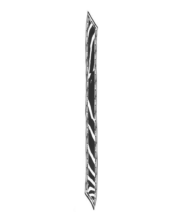 Zebra Printed Super Skinny Scarf
