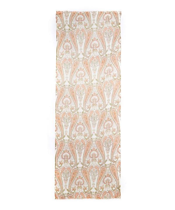 Vivid Paisley Printed Cashmere Scarf