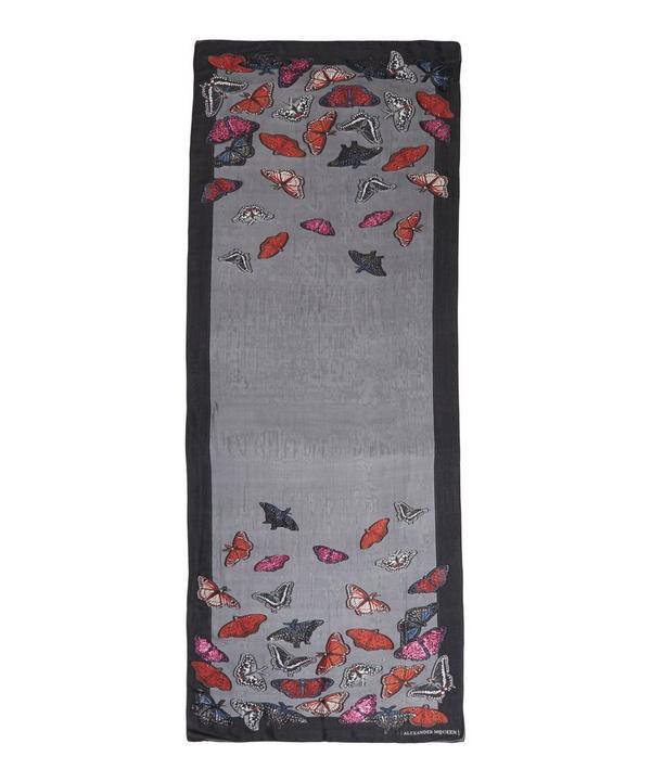Butterfly Jacquard Silk Chiffon Scarf