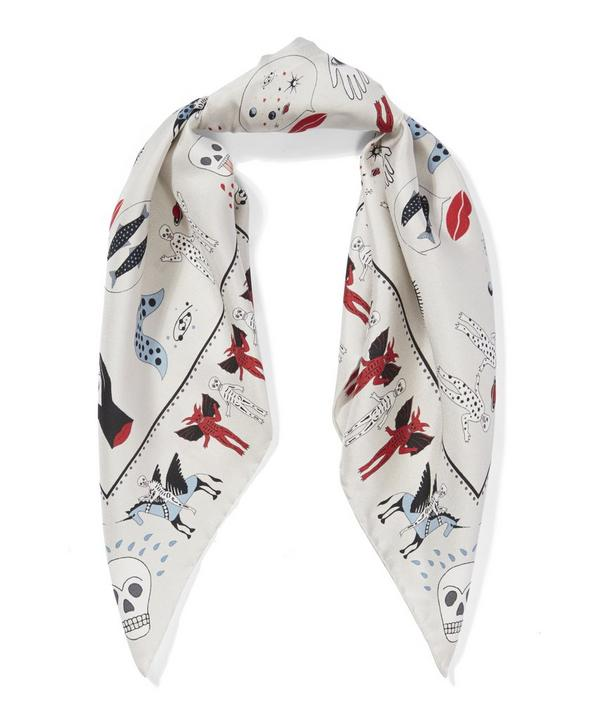 Dance With The Devil Silk Twill Foulard