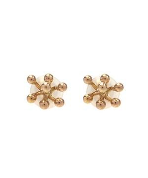 Gold Aquatic Cluster Post Earrings
