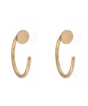 Gold Circle Hug Hoop Earrings