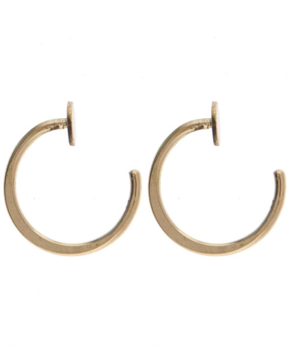 Gold Circle Hug Hoop Earrings
