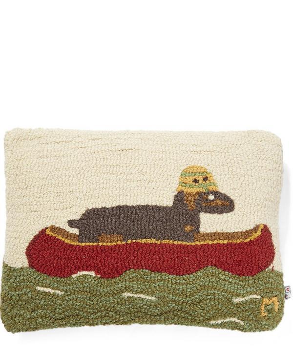 Dachshund In Boat Cushion