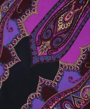 Delhi Paisley Pleat Spot Silk Shaw