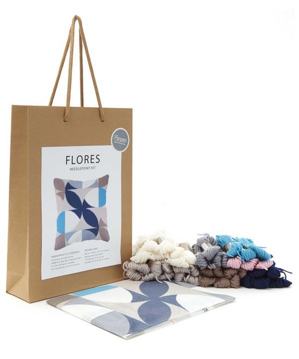 Flores Needlepoint Cushion Kit