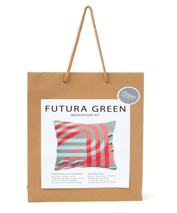 Futura Green Needlepoint Cushion Kit