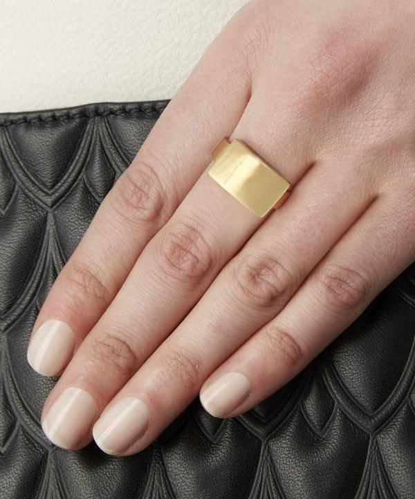 Gold Plated Large Linear Ring