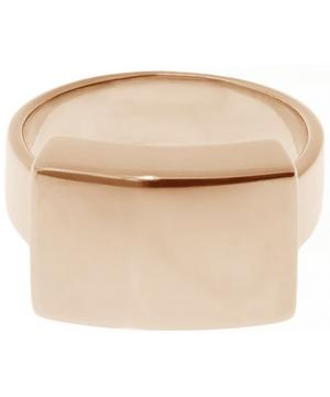 Rose Gold Plated Large Linear Ring