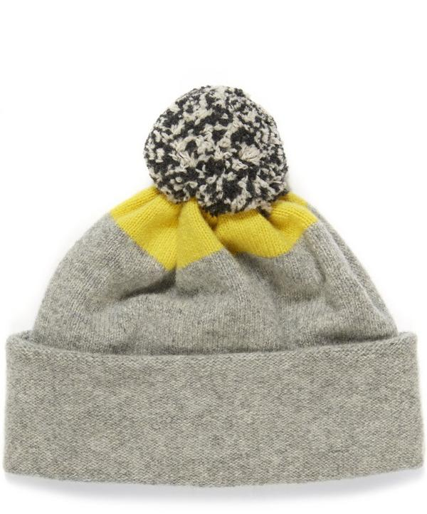 Lambswool Spot Top Bobble Hat