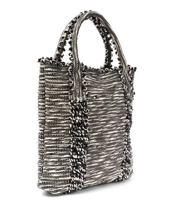 Cotton Striped Liscia Bella Tote Bag