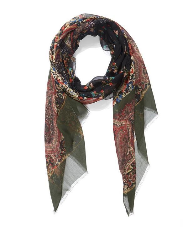 Nineties Floral Delicate Silk Scarf