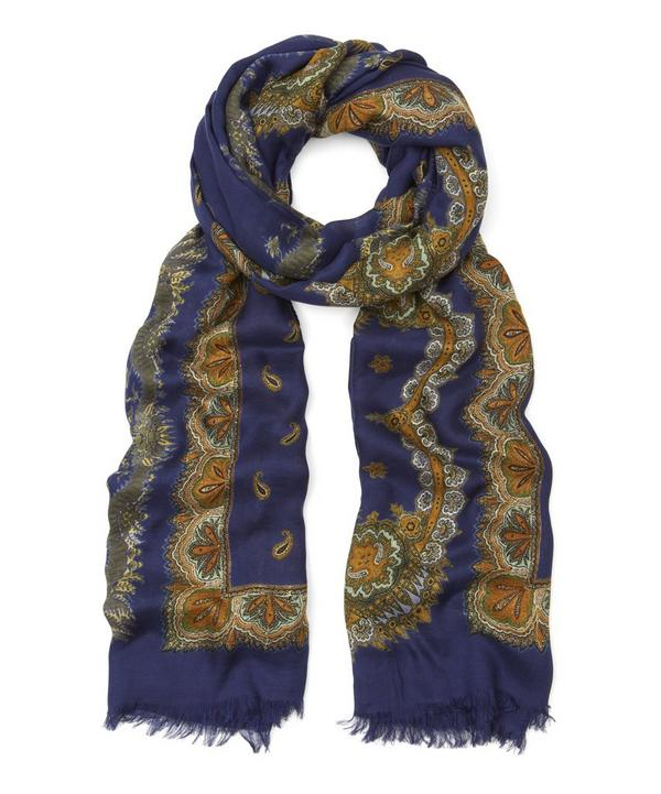 Etro Classic Paisley Modal Cashmere Scarf