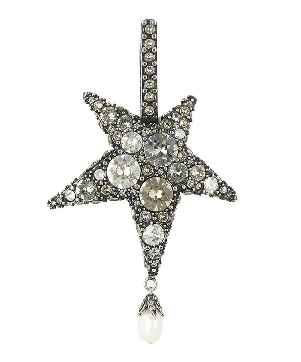Antique Silver Star Hair Slide