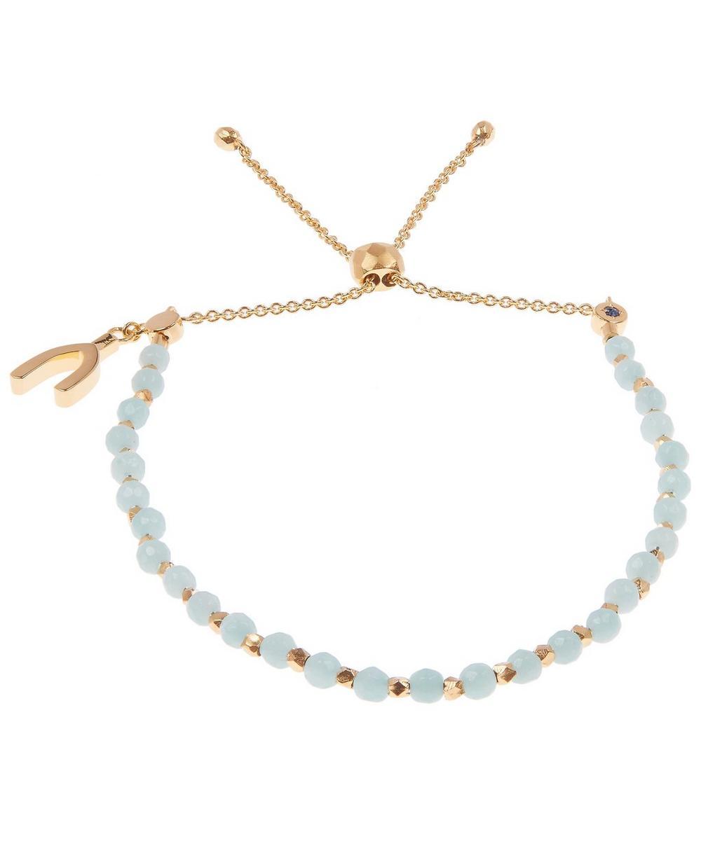 Gold and Amazonite Wishbone Kula Bracelet
