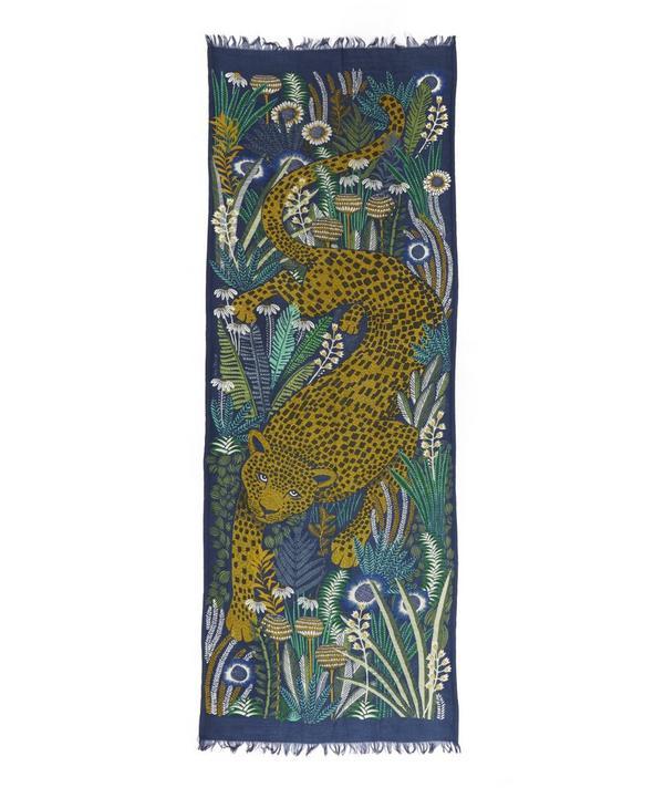 Rousseau Leopard Patterned Scarf