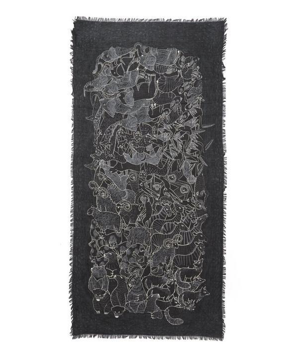 Noe Animal Printed Wool Scarf