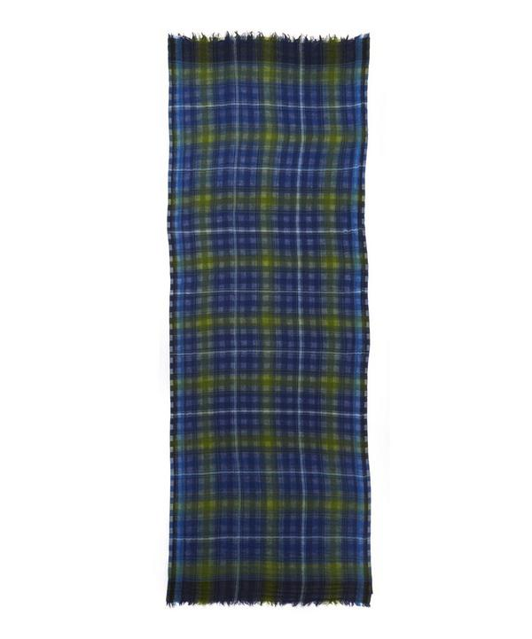 Miles Check Wool Scarf