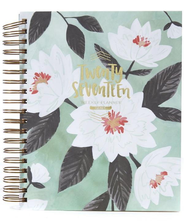 Floral Printed 17 Month Planner