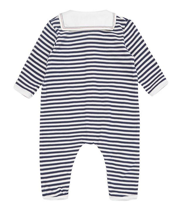 Striped Collared Playsuit