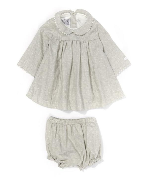 Dalina Dots Linen Bloomer Dress