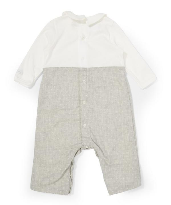 Collared Bow Playsuit
