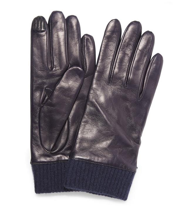 Nappa Ribbed Cuff Gloves