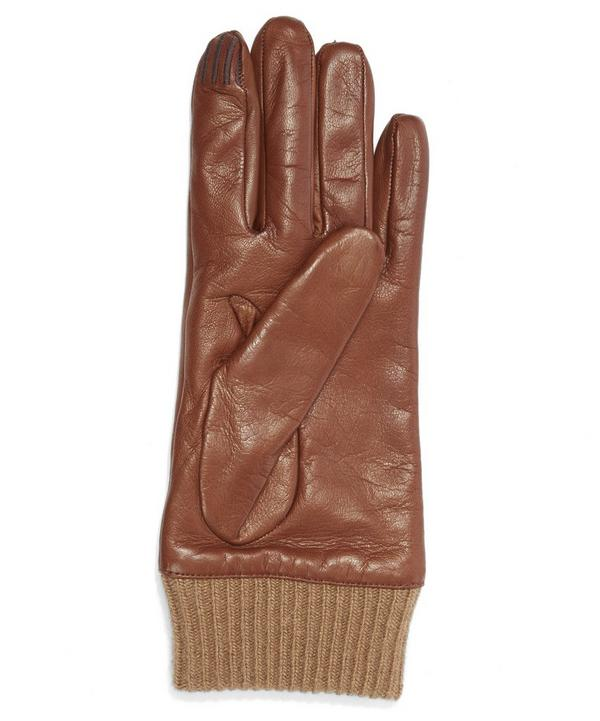 Nappa Ribbed Cuff Gloves