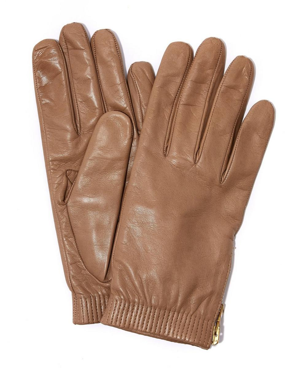 Nappa Leather Cuffed Gloves