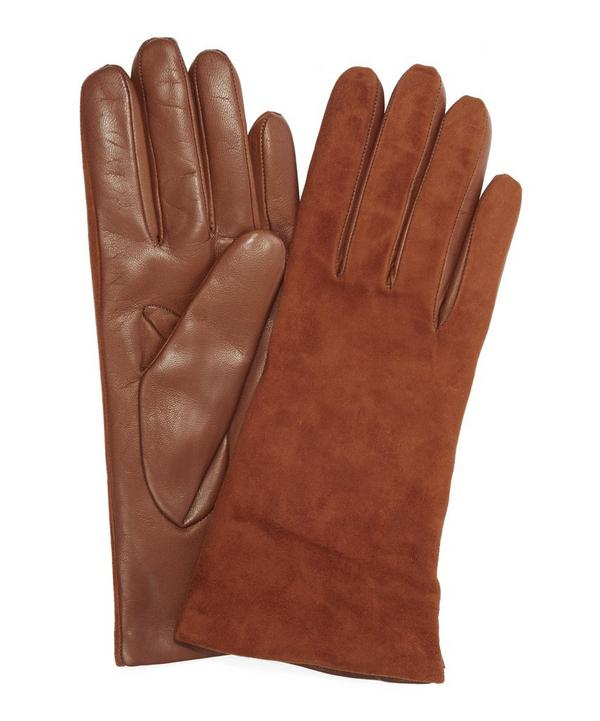 Suede Topped Nappa Leather Gloves
