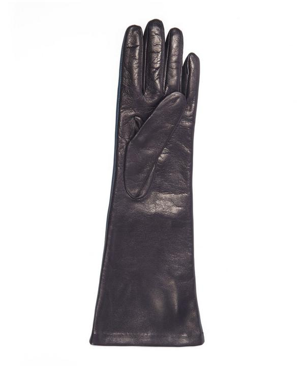 Long Contrast Nappa Leather Gloves