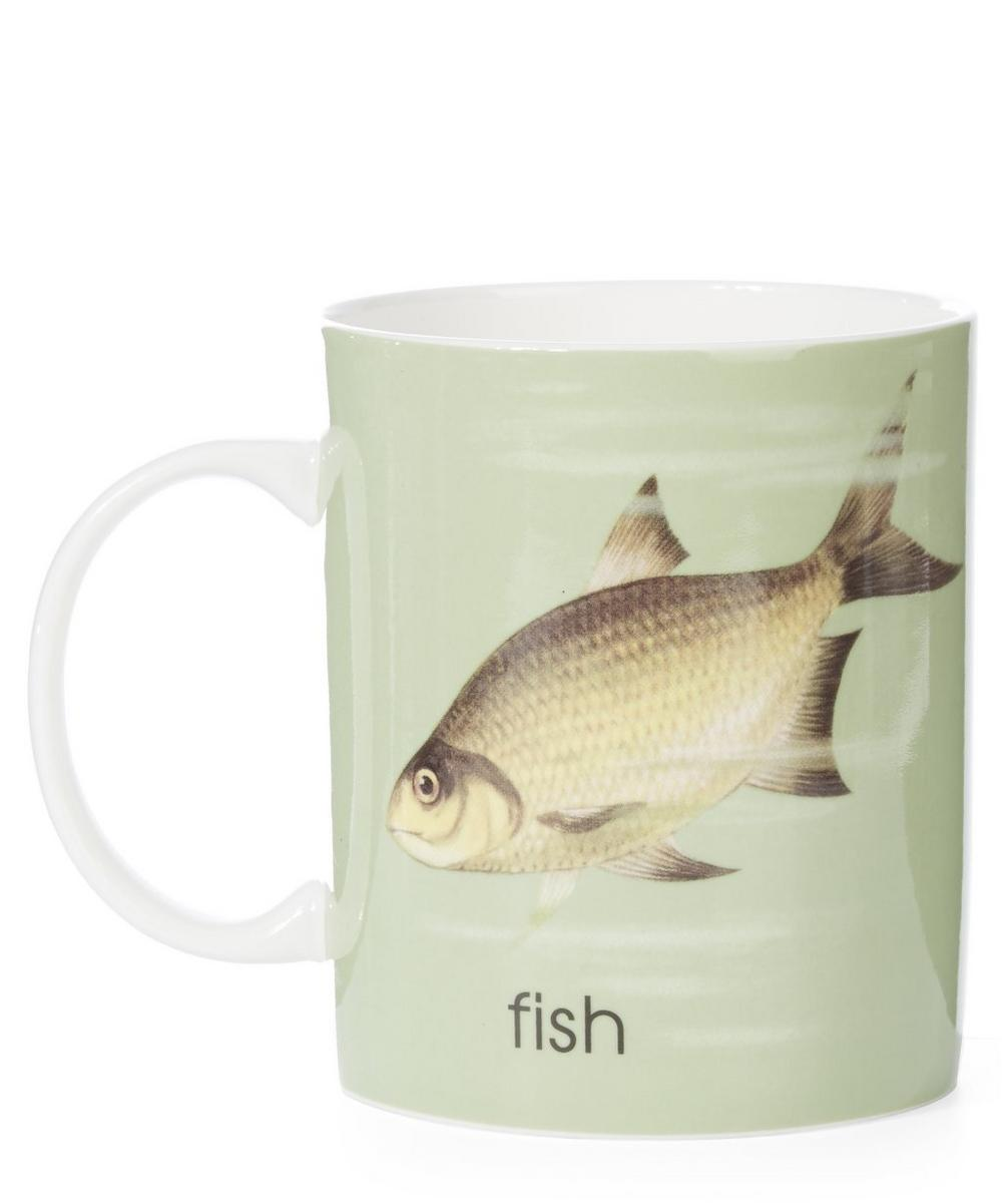 Ladybird Bone China F for Fish Mug