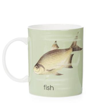 Ladybird Bone China F for Fish Mug