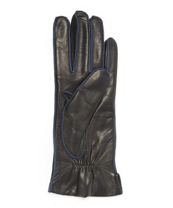 Contrast Stitched Nappa Leather Gloves
