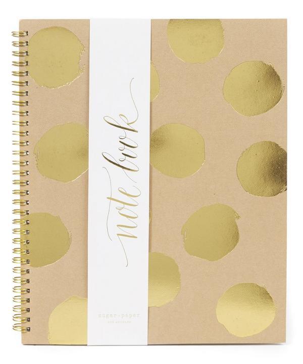 Large Painted Dot Kraft Notebook