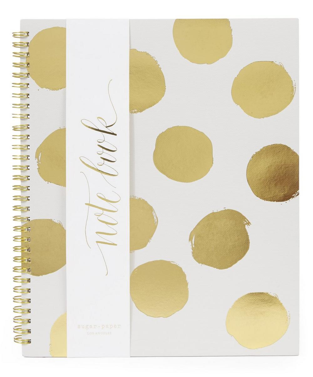 Large Painted Dot Kraft Notebook