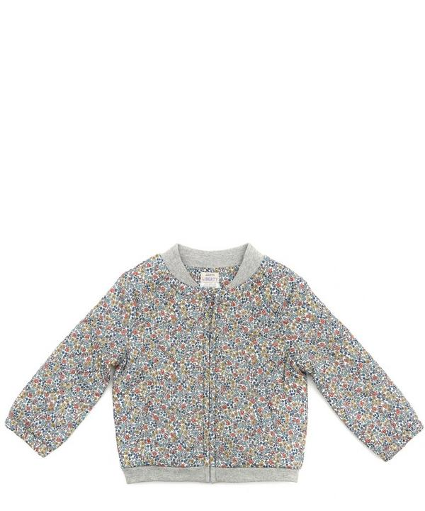 Emilias Flowers Quilted Bomber Jacket