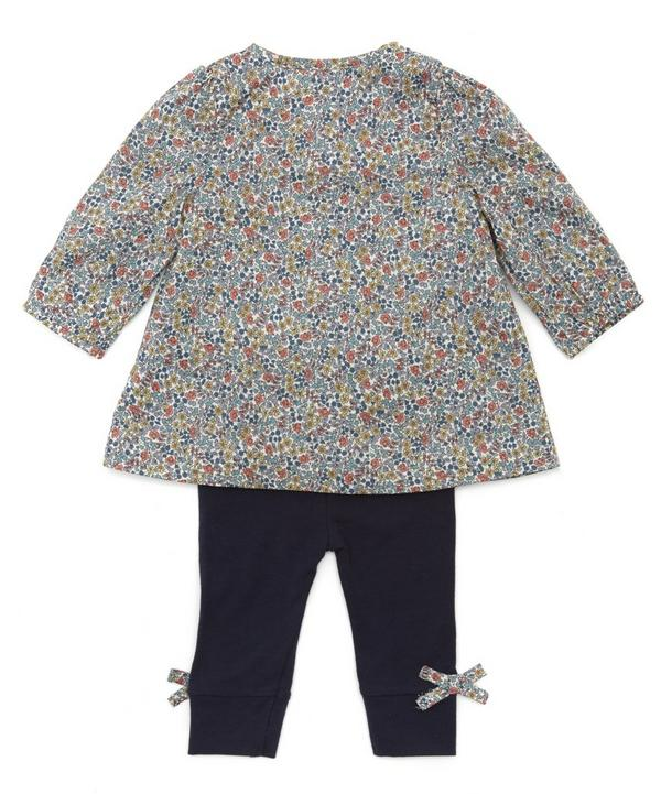 milias Flowers Smock Blouse and Leggings Set