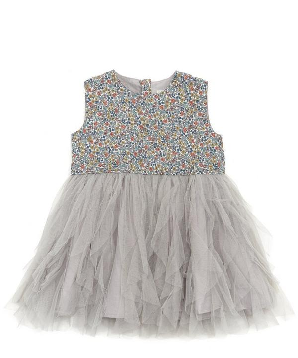 Emilias Flowers Waterfall Tulle Dress