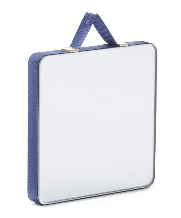 Ruban Ribbon-Trimmed Square Mirror Extra Small