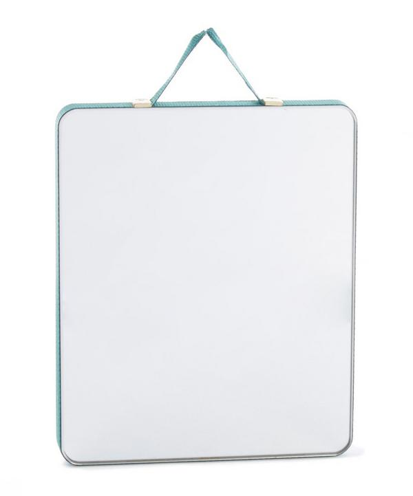 Ruban Ribbon-Trimmed Rectagular Mirror Small