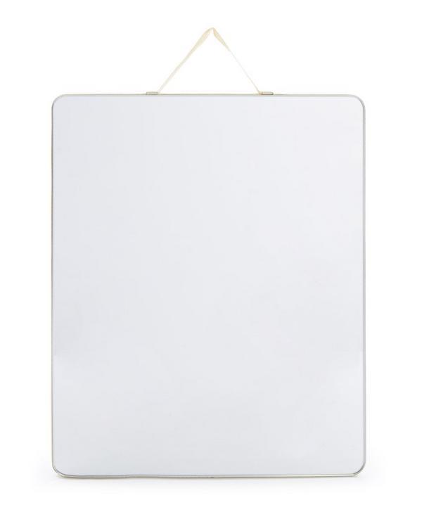 Ruban Ribbon-Trimmed Rectagular Mirror Medium