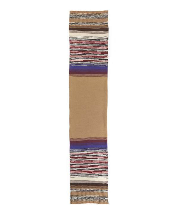 Spaced Out Stripe Detailed Scarf