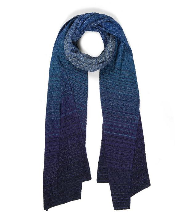 Degrade Detailed Knitted Scarf